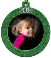 2014 Green Glitter Ornament