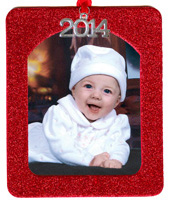 2014 Red Glitter Ornament